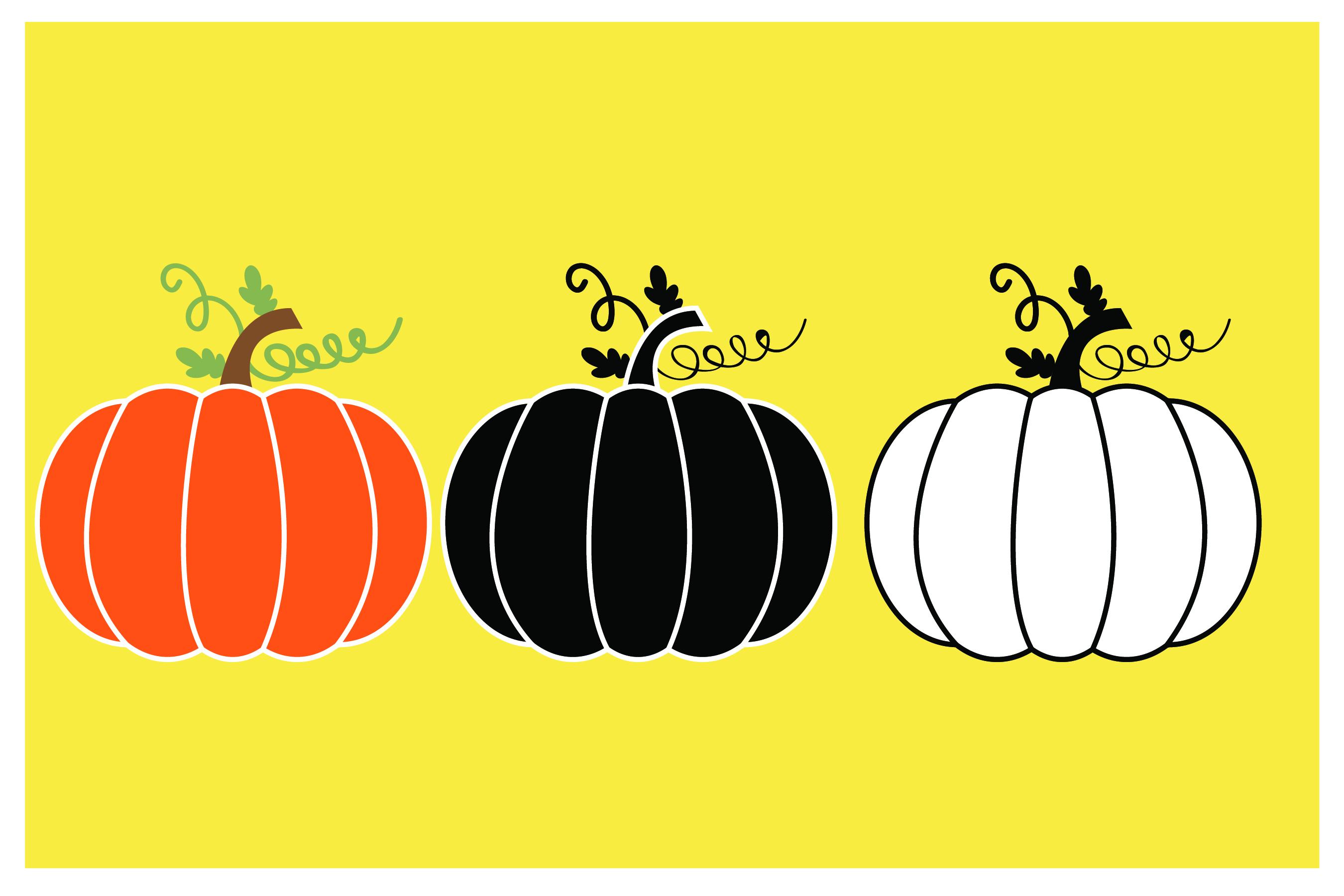 Pumpkin 3 Design - SVG Cut File - T shirt , Mug,Design example image 2