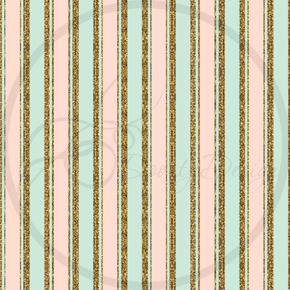 Digital Papers Gold, mint and pink example image 3