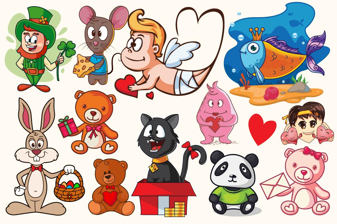 Cartoon Characters & Items Bundle example image 2