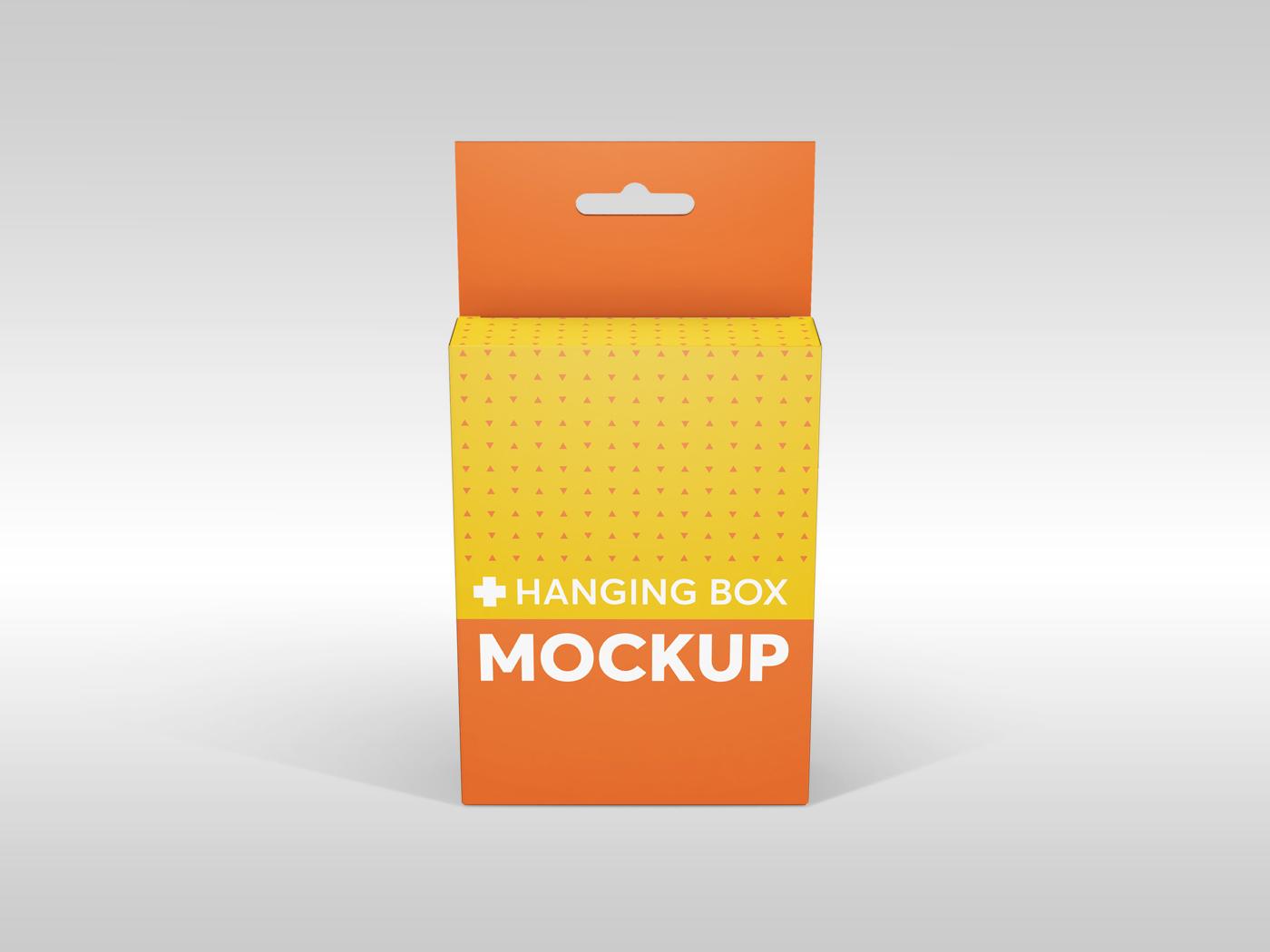 Flat Rectangle Box with Hanger Mockup example image 13