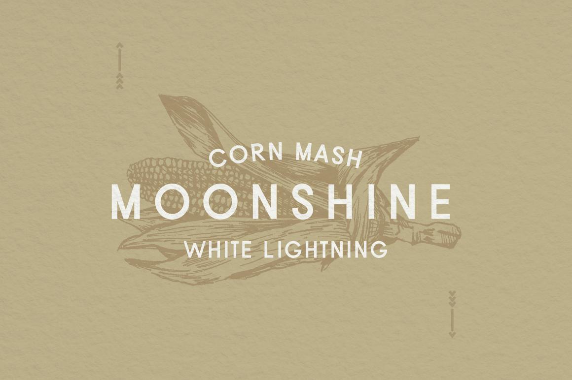 Moonshine Font | A Classic Sans Serif example image 2