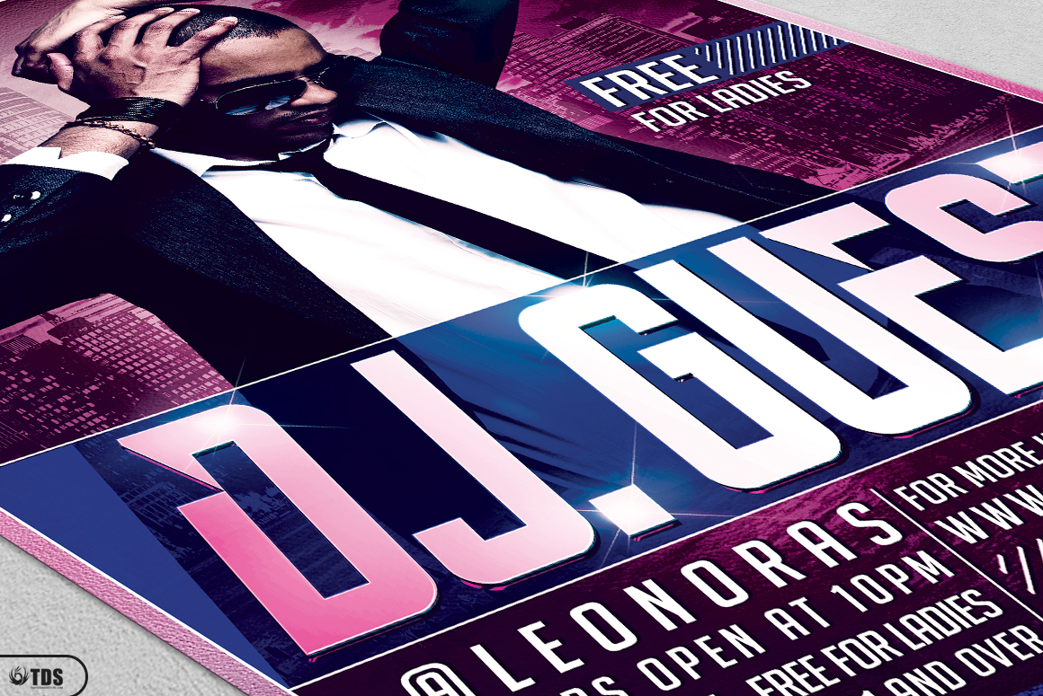 DJ Guest Flyer Template V1 example image 5