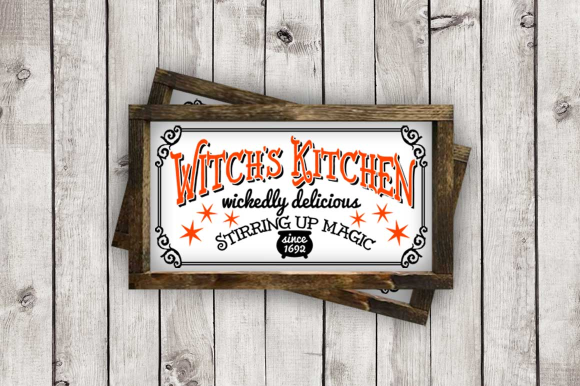 Witch's Kitchen Halloween Sign cut File - SVG DXF EPS AI PNG example image 3