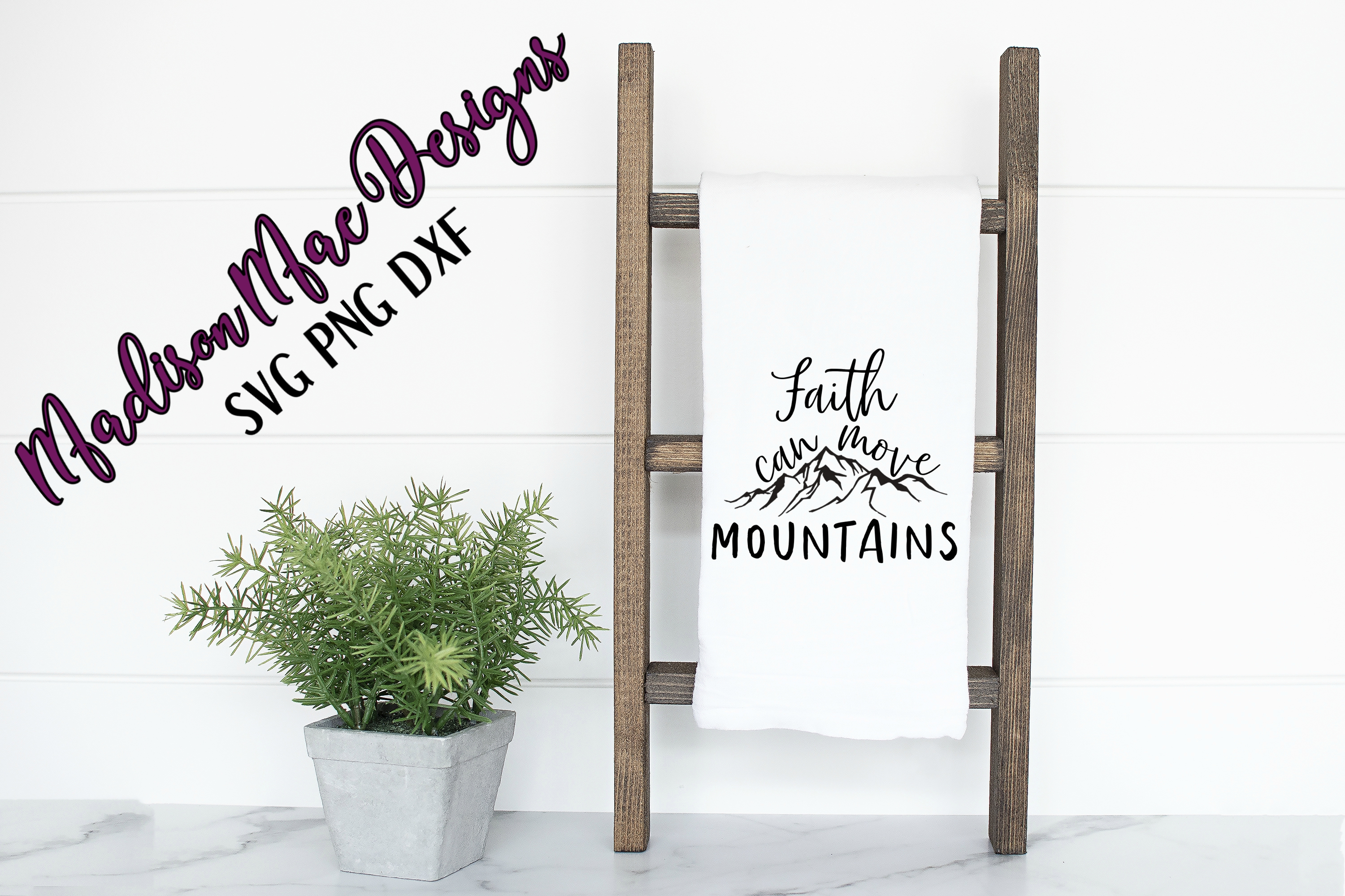 Faith Can Move Mountains  Christian SVG example image 4
