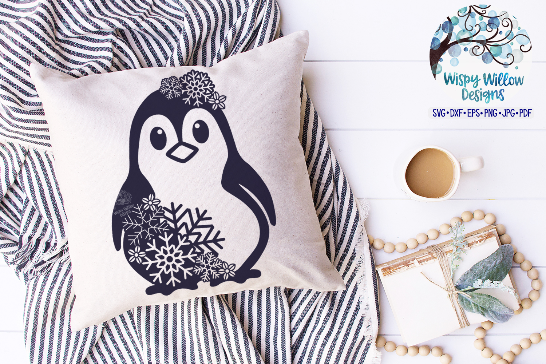 Snowflake Penguin SVG | Winter Penguin SVG Cut File example image 2