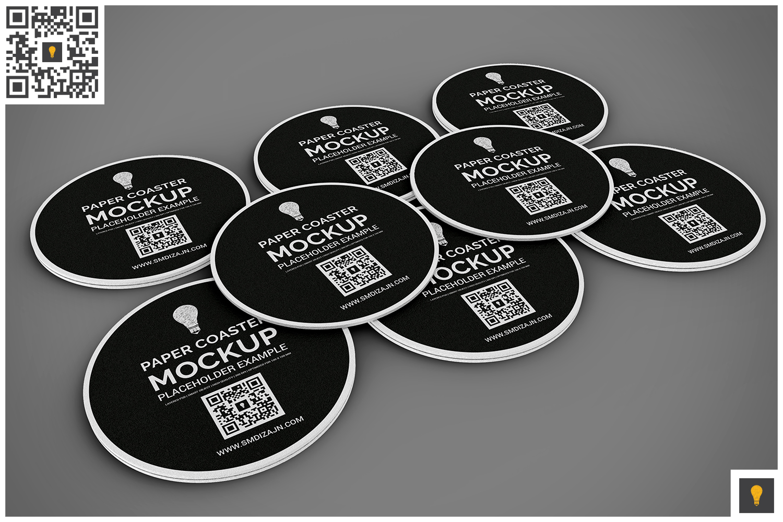 Paper Coaster Mockup example image 7