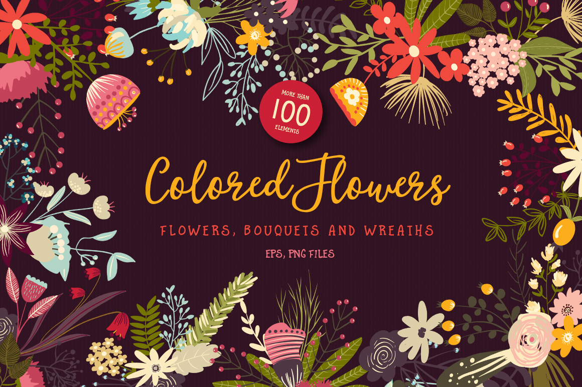 Colored Flowers example image 1