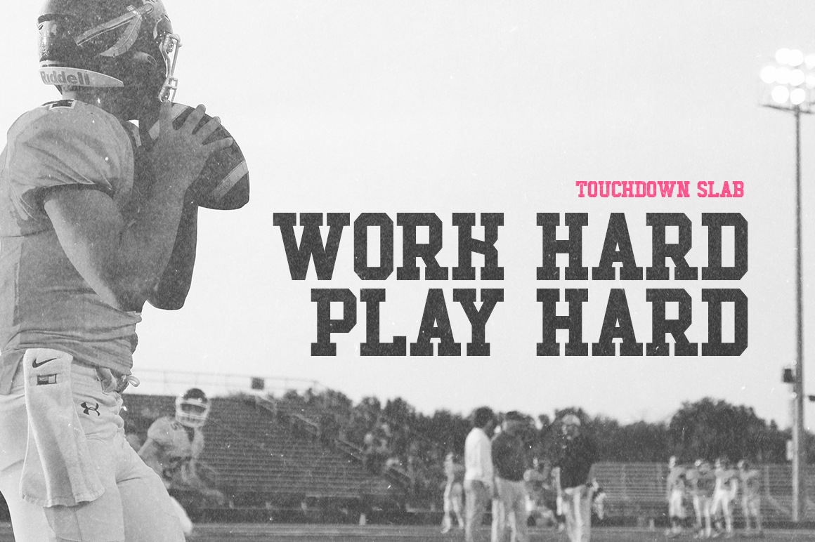 Touchdown Slab Font example image 2