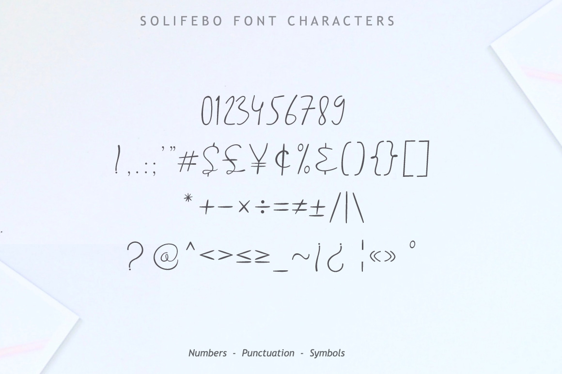 Solifebo Font example image 10
