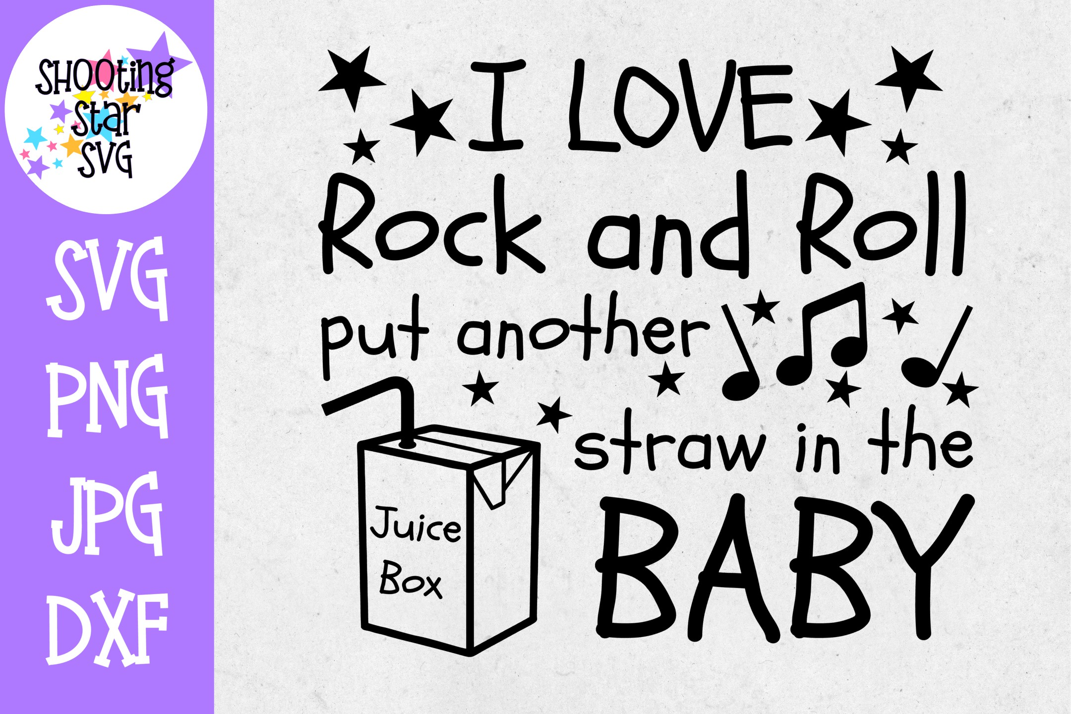 I love Rock and Roll Put Another Straw in the Juice Box SVG example image 1