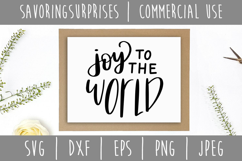 Joy to the World SVG, DXF, EPS, PNG JPEG example image 3