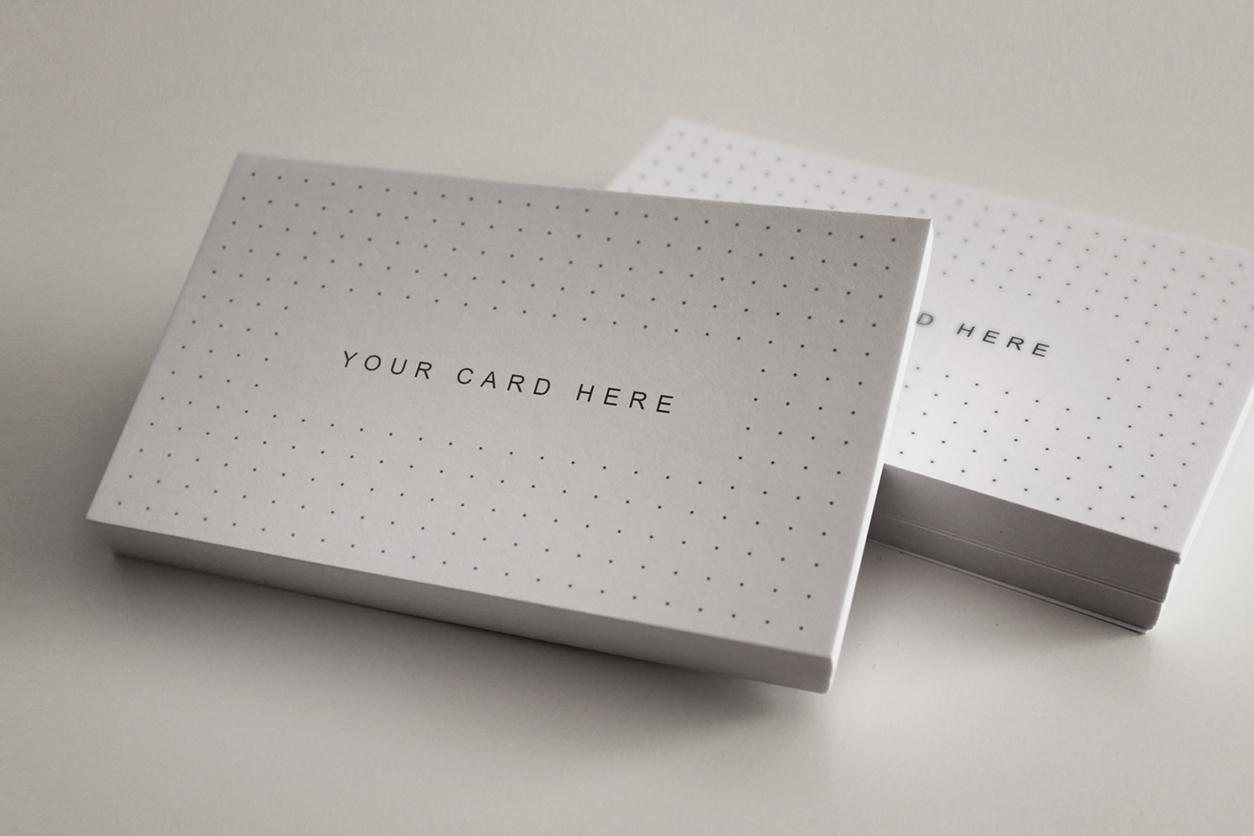 Set of 15 Business Card - Flyer Mock-ups example image 11