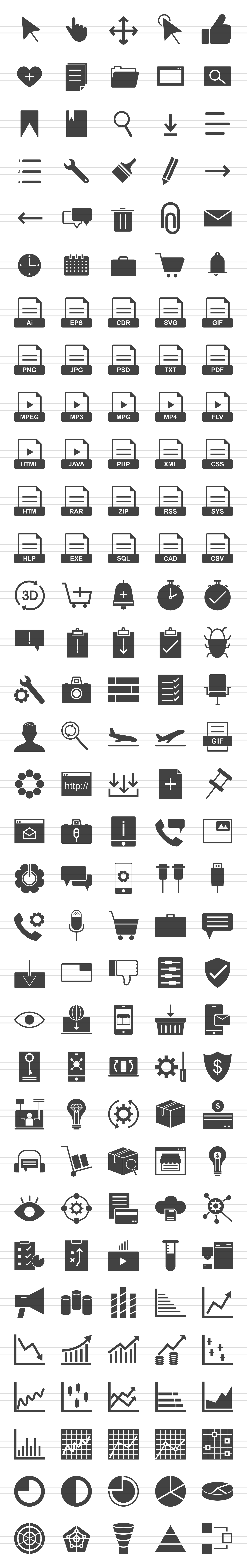 166 Interface Glyph Icons example image 2