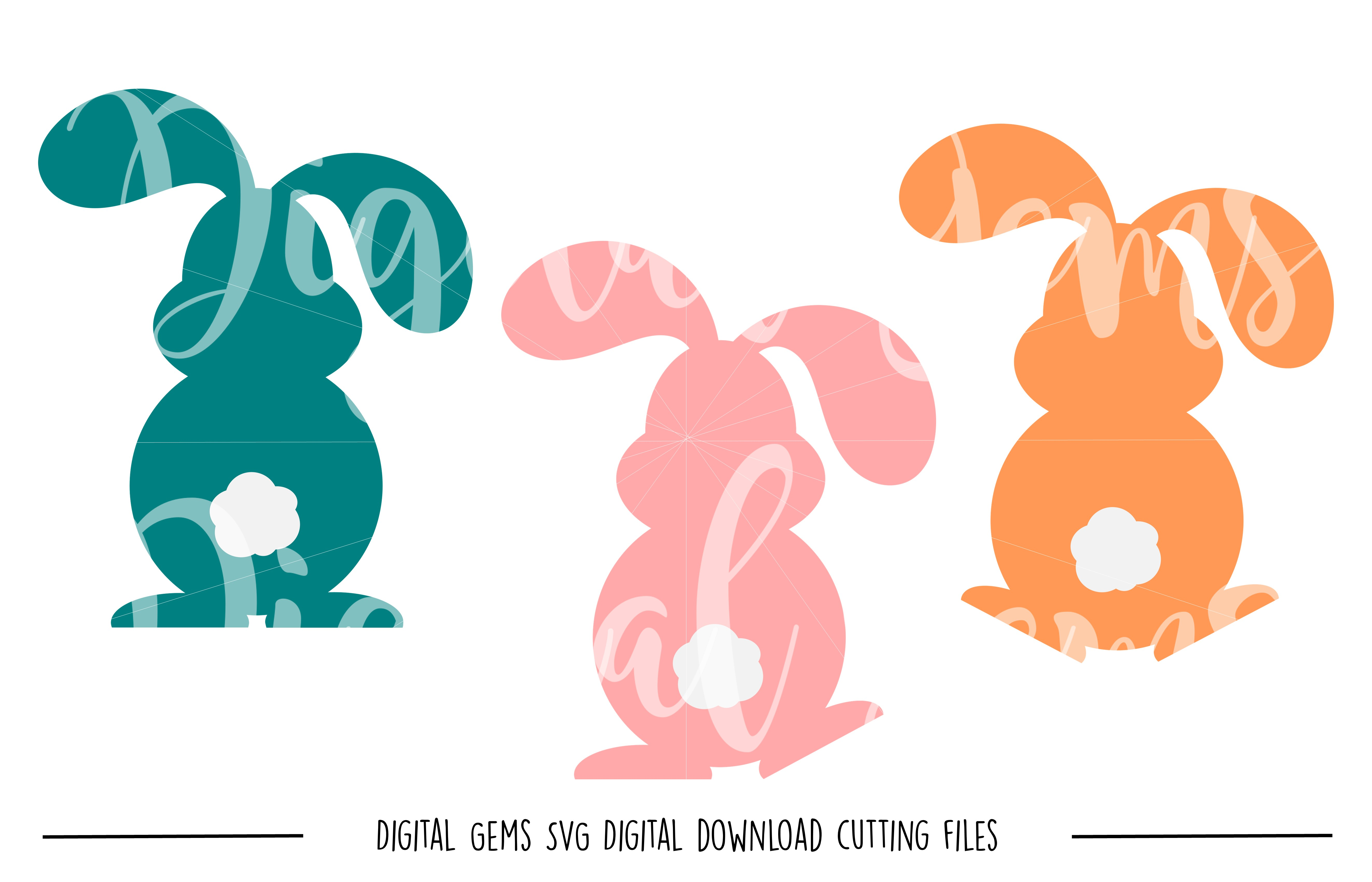 Rabbit SVG / PNG / EPS / DXF Files example image 1