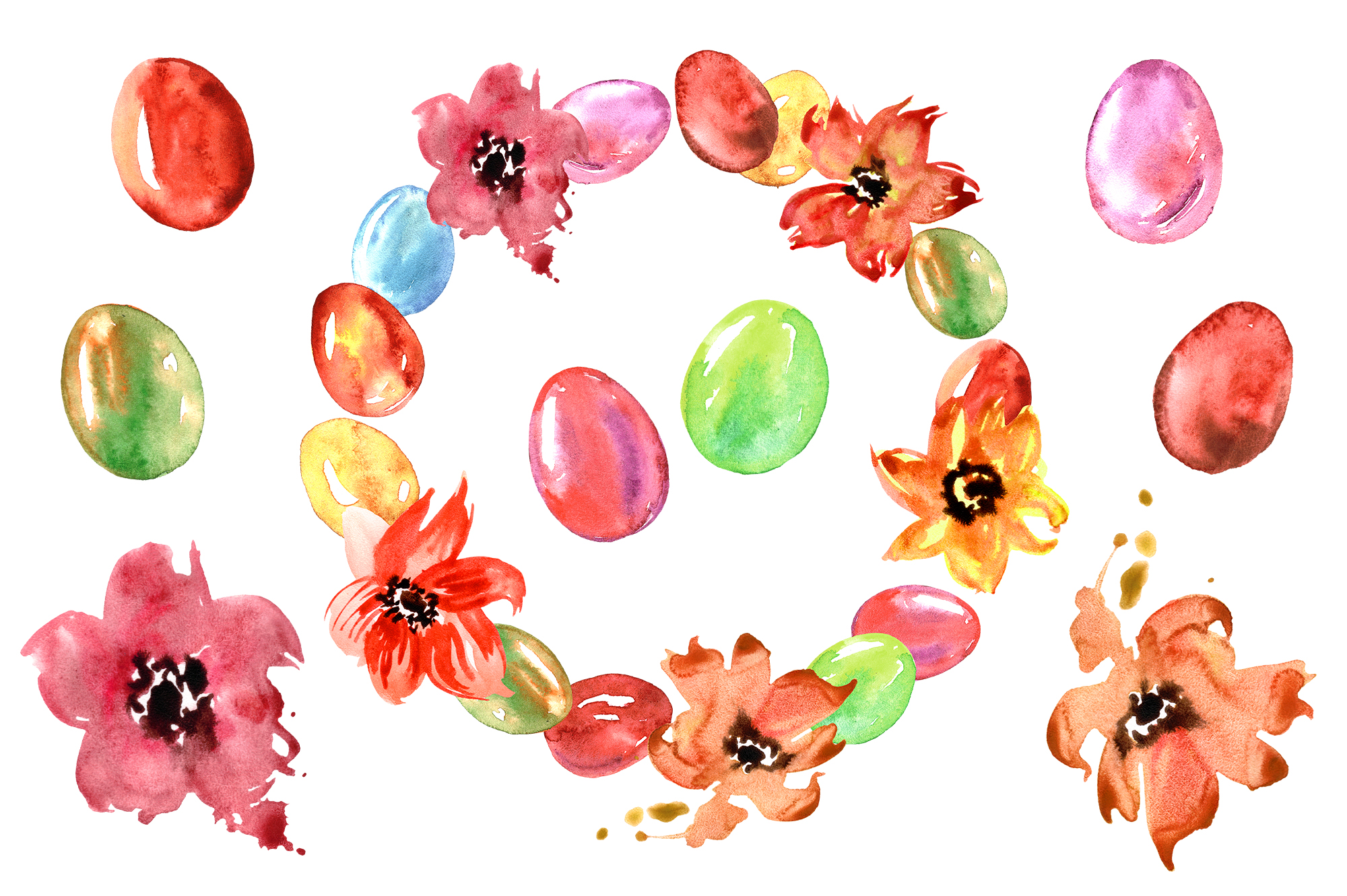 Watercolor Happy Easter example image 2