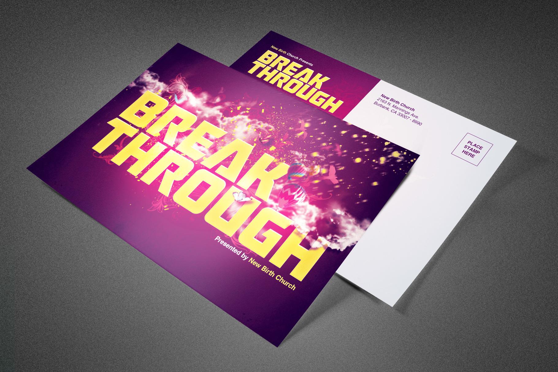 Break Through Church Postcard example image 1