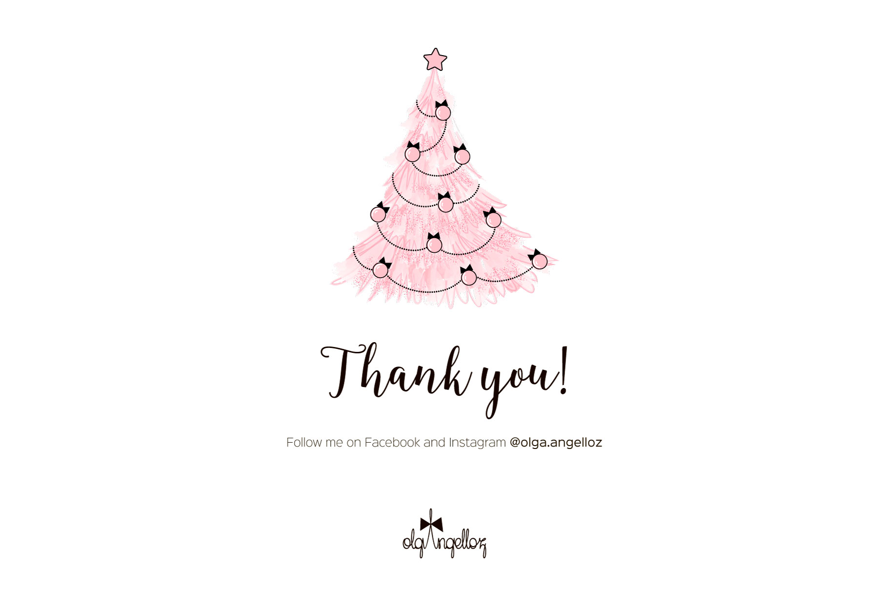 Cute Pink Christmas clip art set example image 5