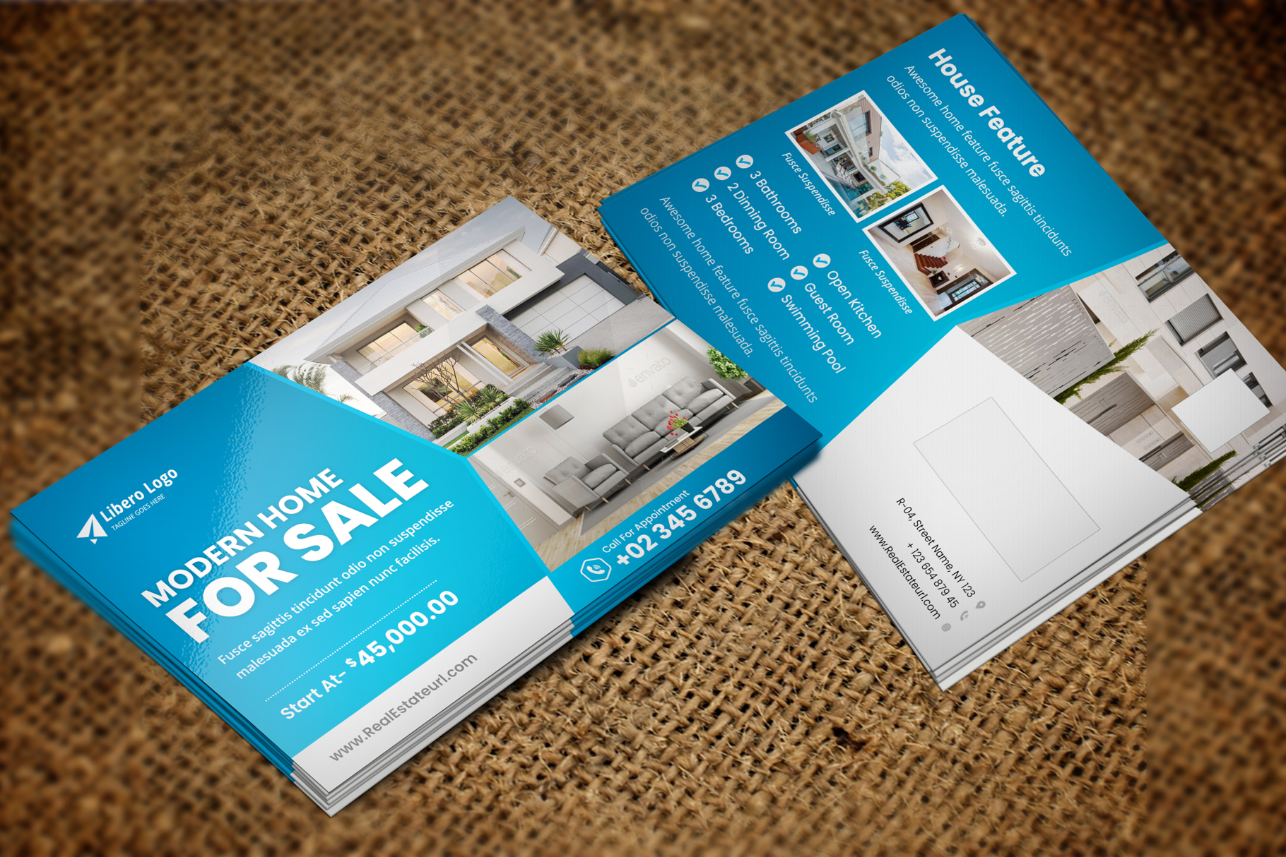 Real Estate Postcard Design v2 example image 3