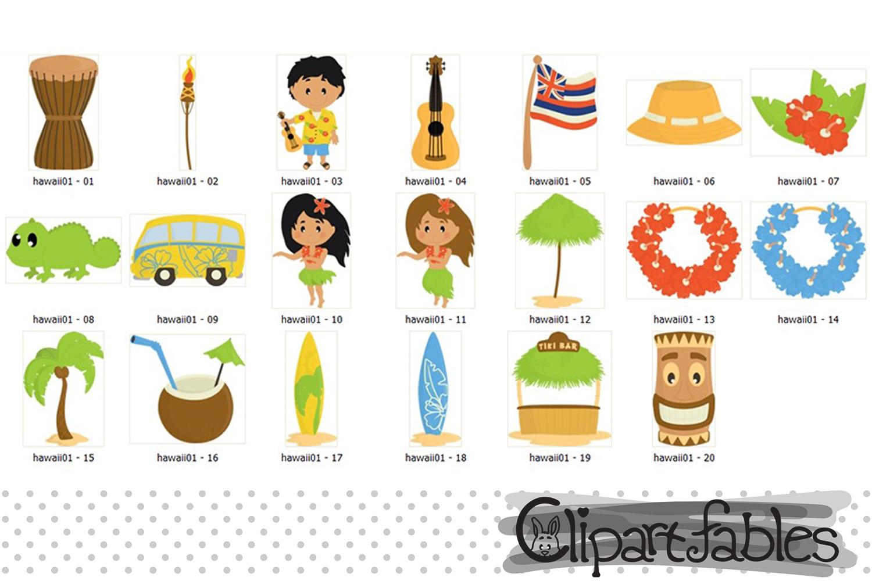 HAWAII clipart, LUAU art, Travel, Tiki clip art example image 2