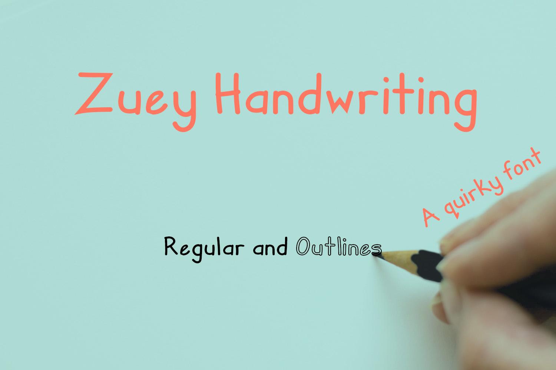 Zuey Handwriting example image 1