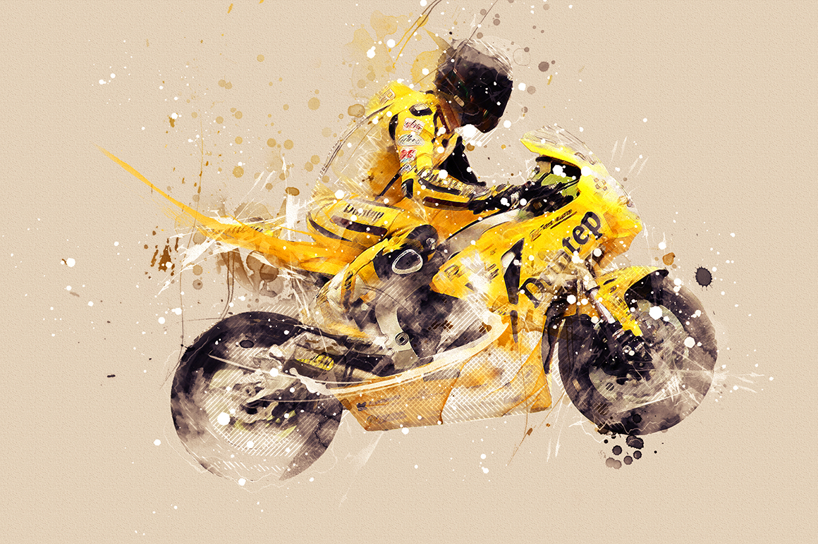 Sports Modern Art Photoshop Action example image 19