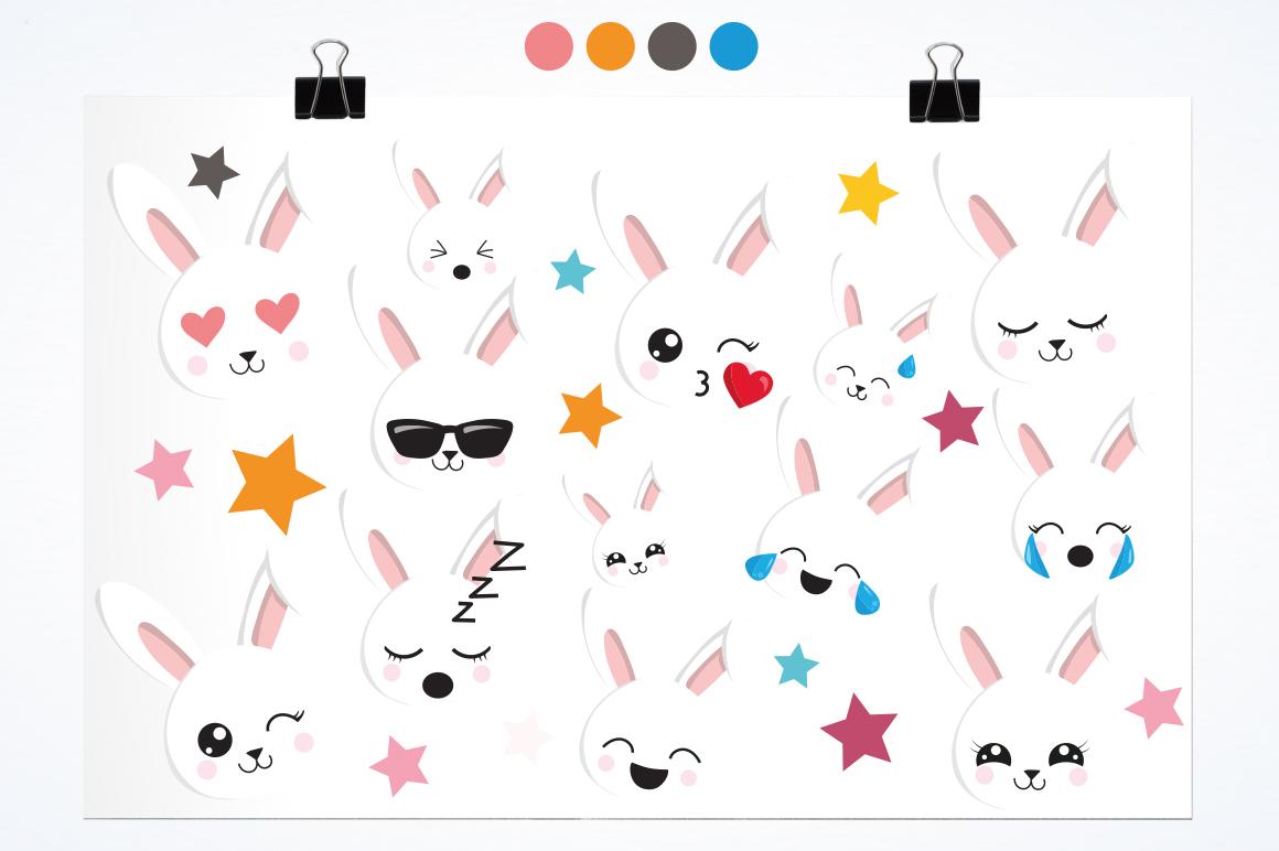 Rabbit Emoji graphic and illustrations example image 2