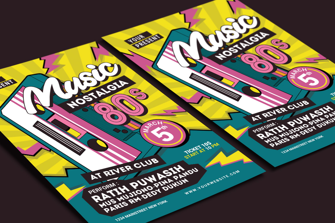 80's Music Event Flyer example image 3