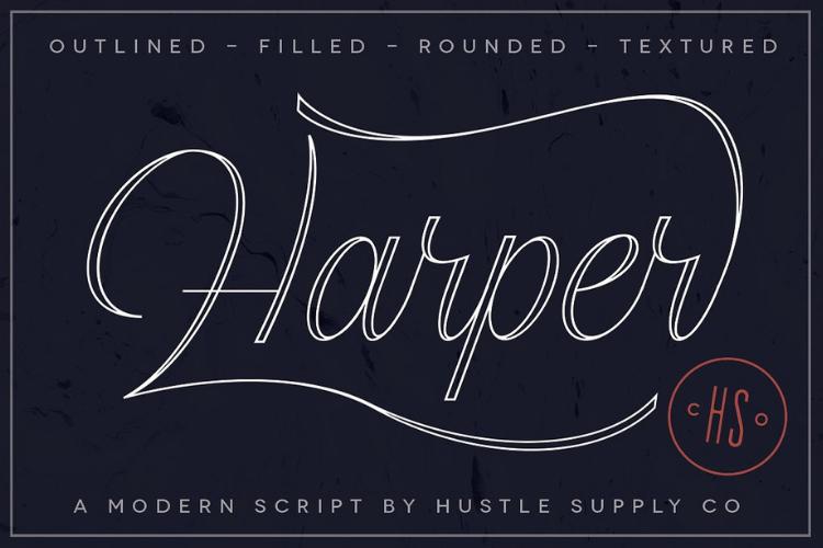 Harper Script example image 1