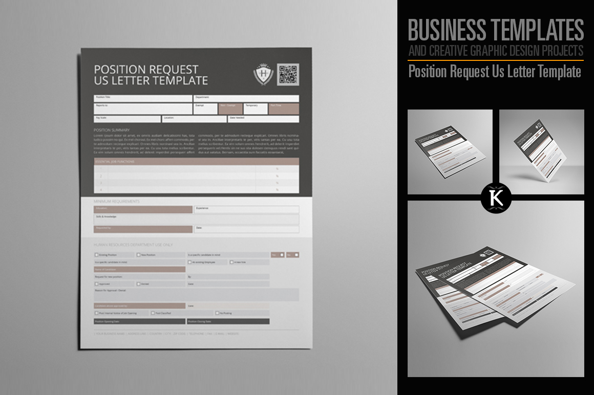 Position Request Us Letter Template example image 1