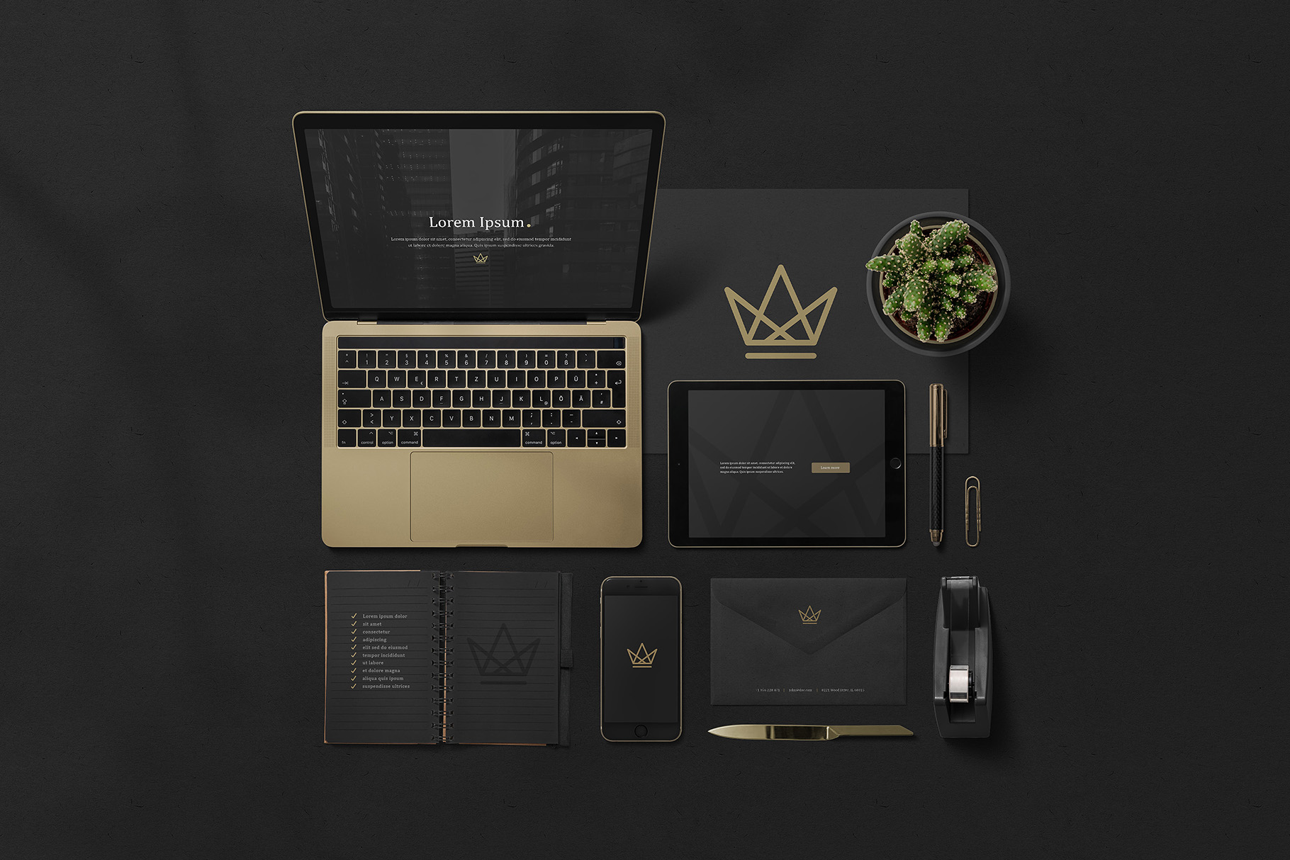 Black Branding Mockups Vol.2 example image 9