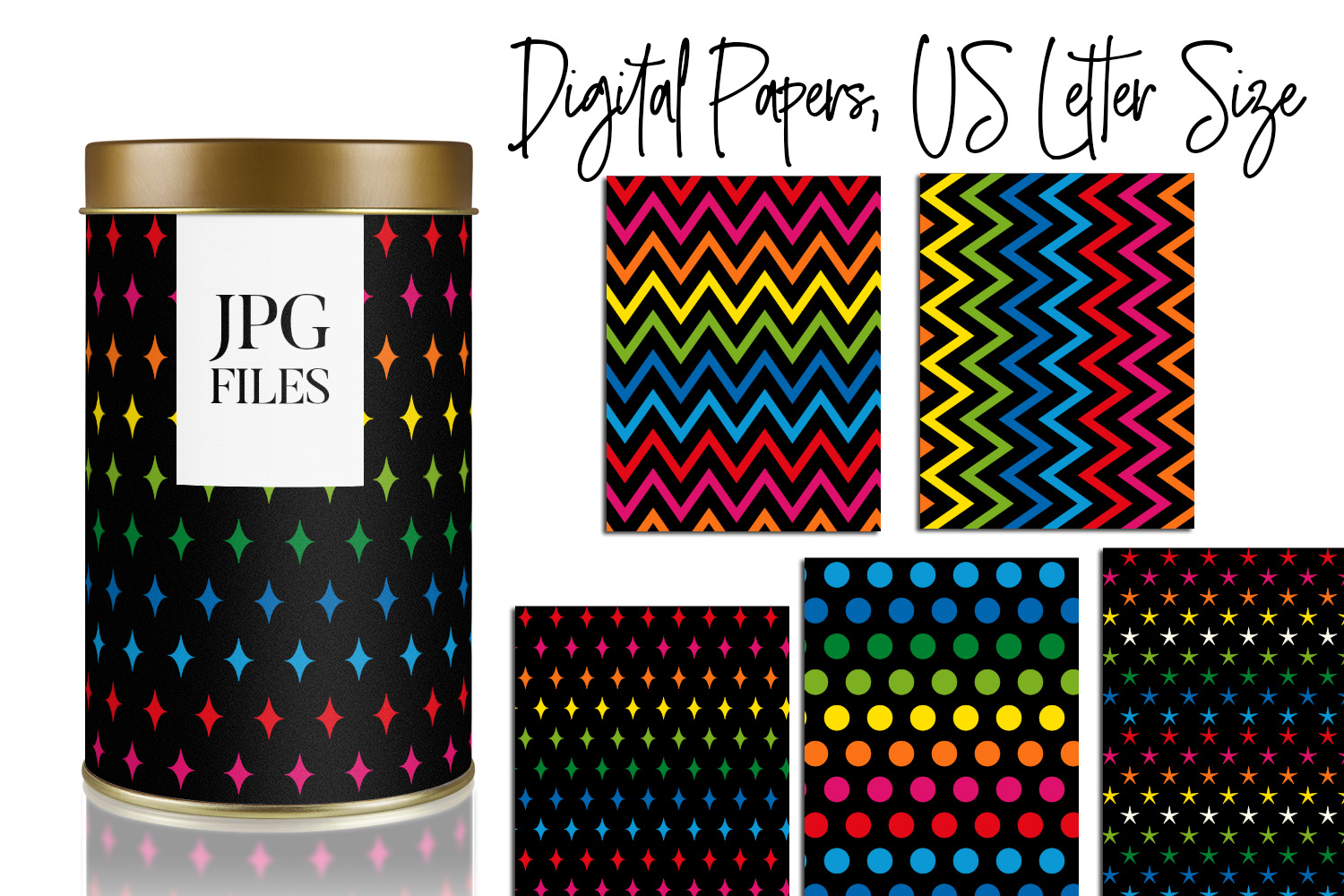 Digital Papers Bundle Vol. 2 - Background Patterns example image 20