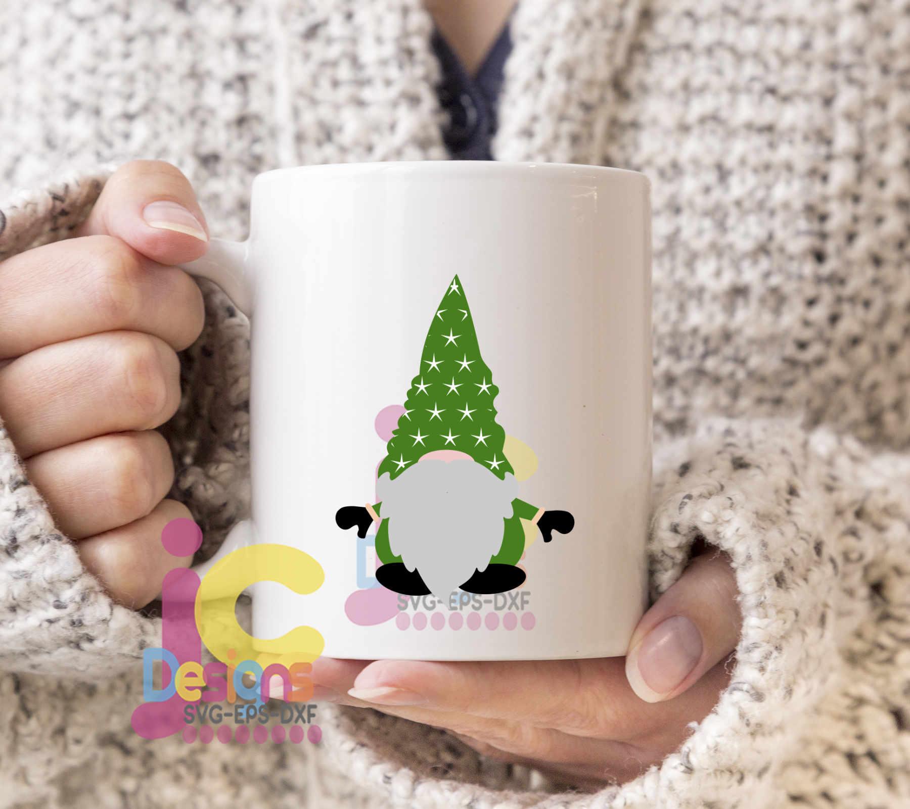 Christmas SVG - Nordic Gnome trio SVG Elf Clipart example image 2