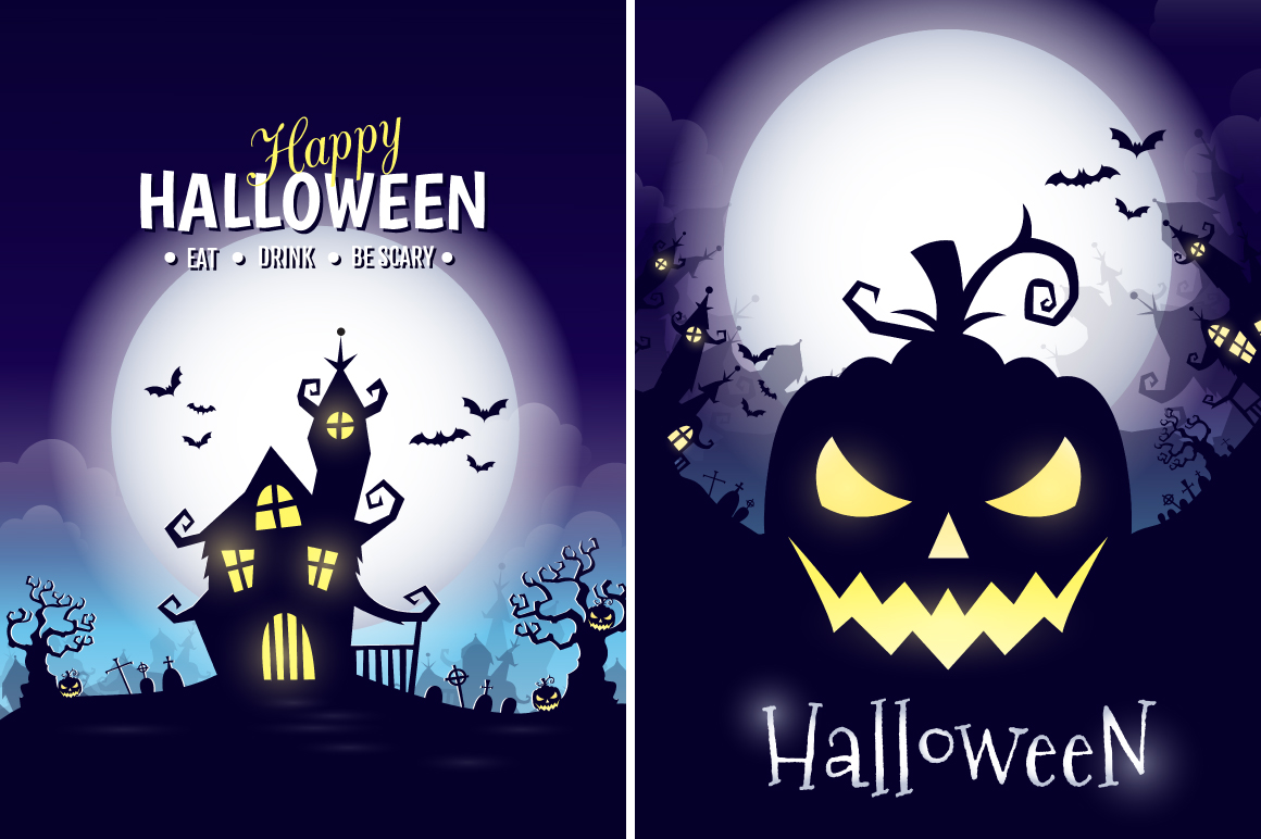 Halloween vector posters example image 5