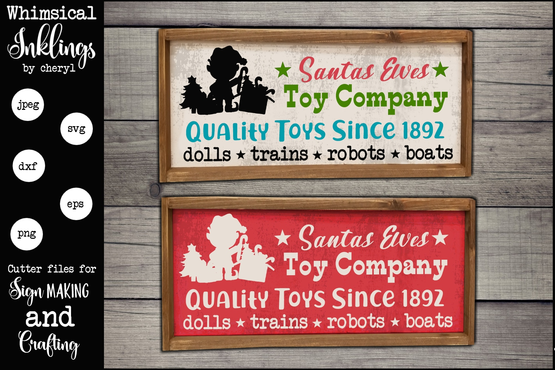 Santas Elves Toy Company SVG example image 1