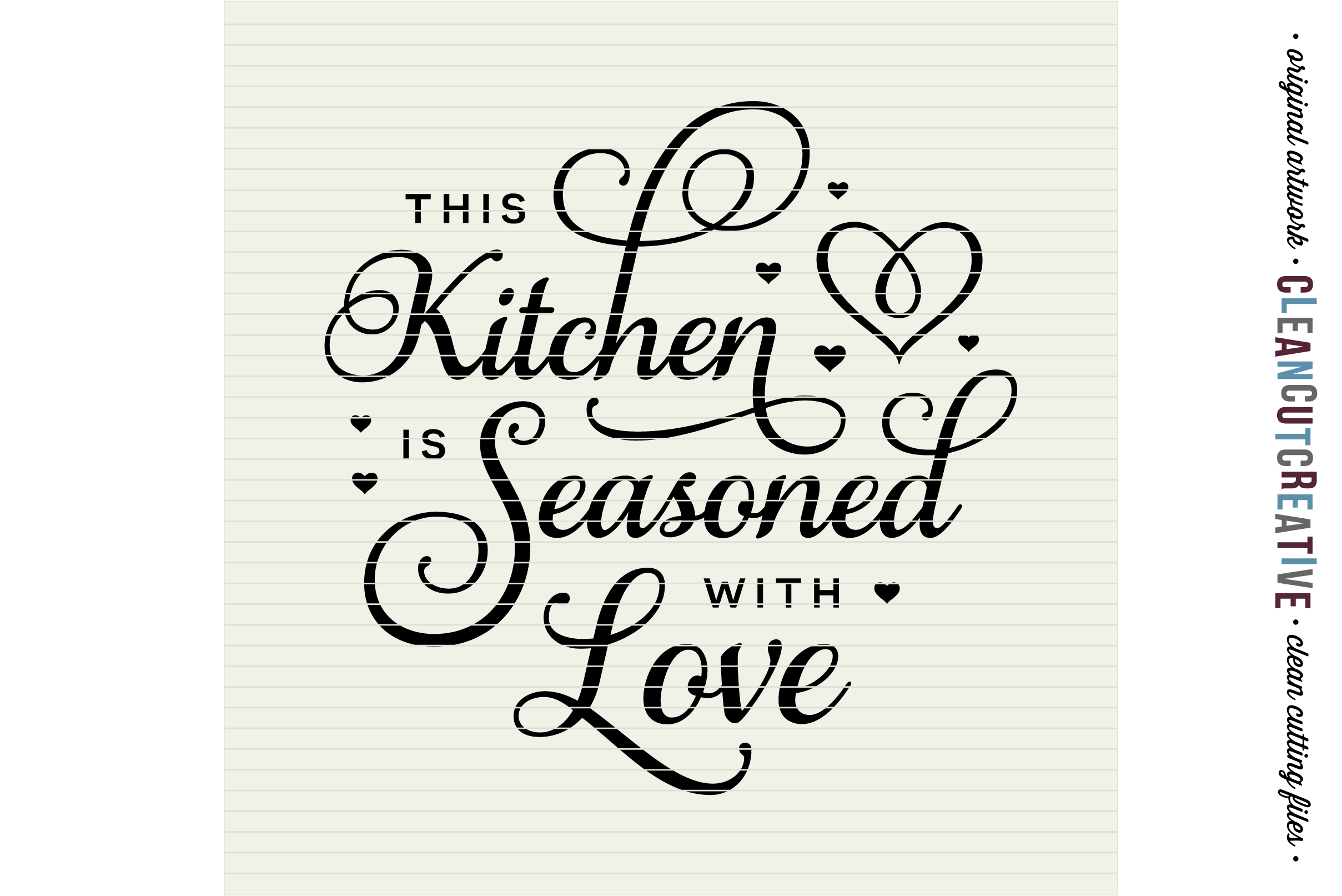 48+ Diy Personalize Svg Kitchen Seasoned With Love Monogram Frame Crafter Files