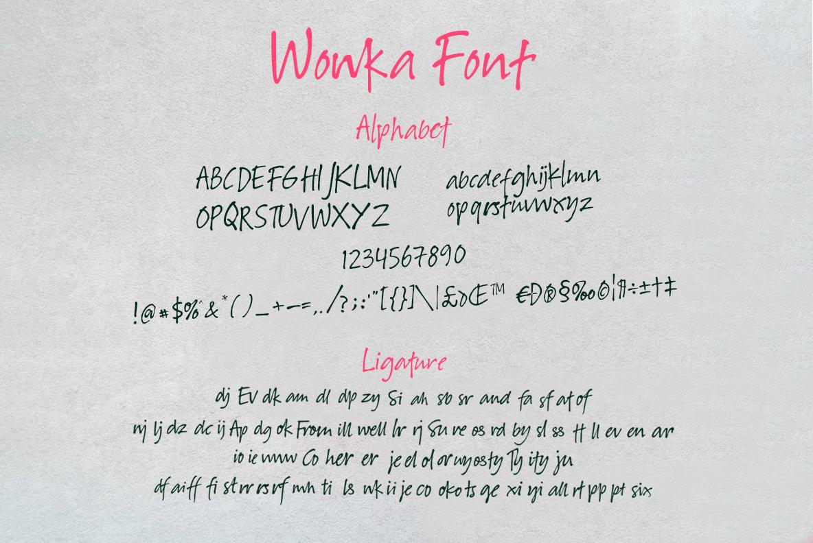 Winkie Wonka Font Duo example image 8
