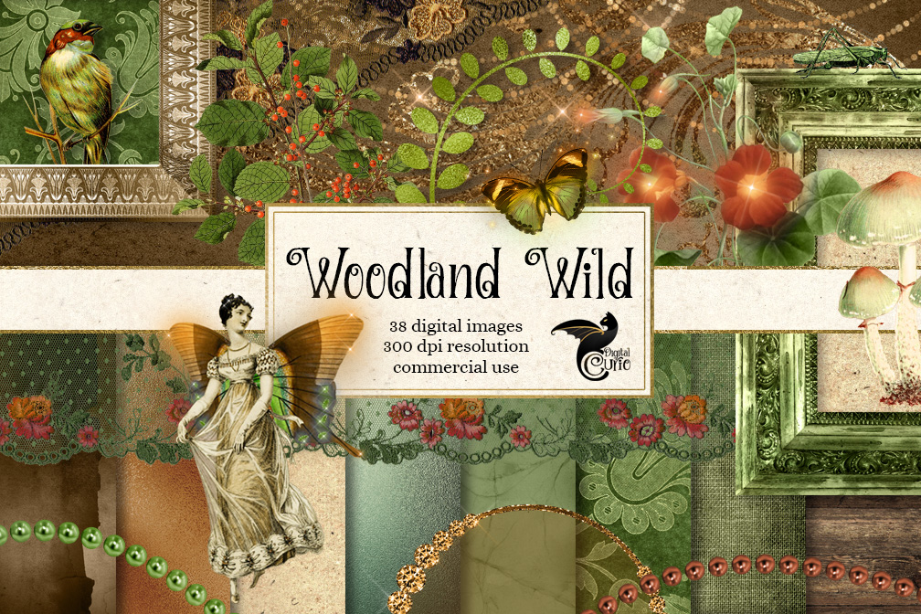 Woodland Wild Digital Scrapbooking Kit example image 1