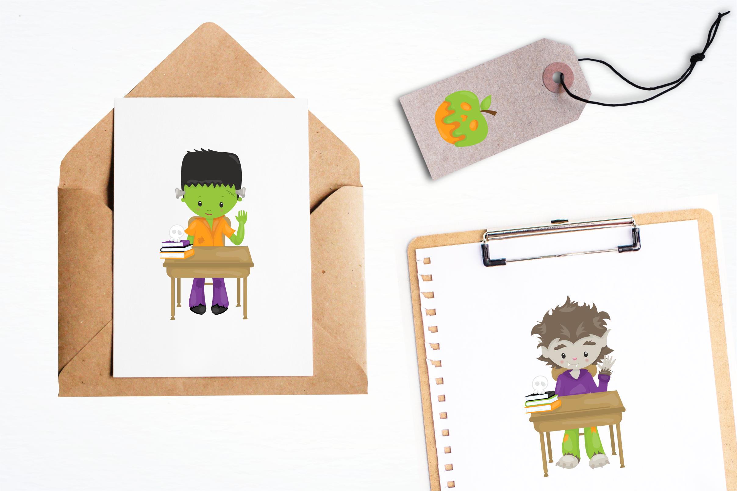 halloween school kids graphics and illustrations example image 4