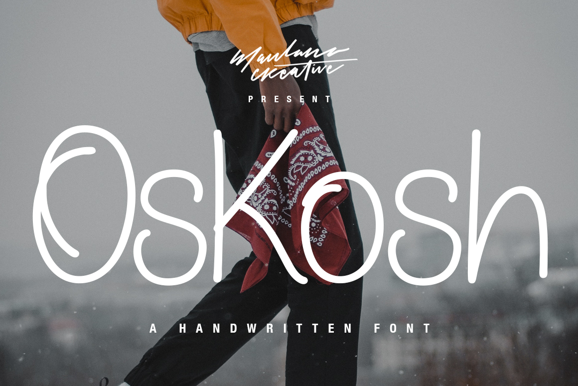 Oskosh Handwritten Font example image 1
