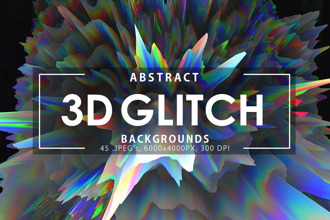 3D Glitch Backgrounds example image 1