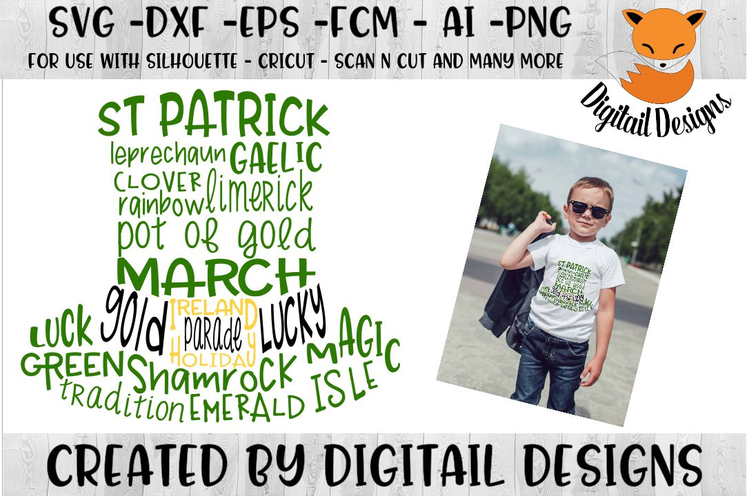 St Patrick's Day SVG - Silhouette - Cricut example image 1