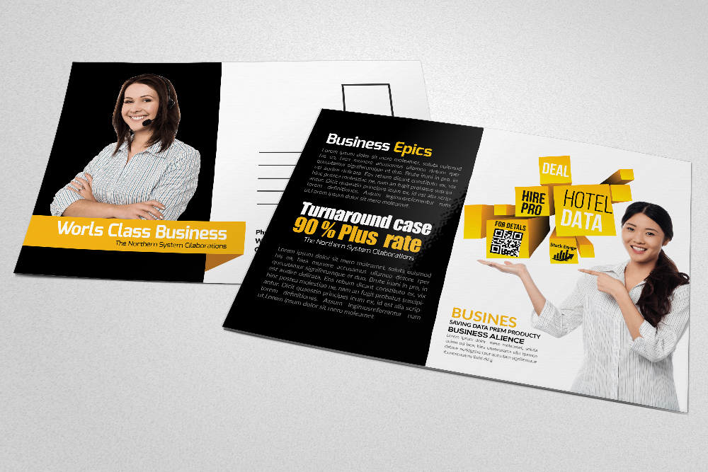 Business & Corporate Postcards Template example image 4