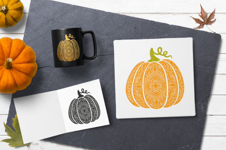 Bohemian pumpkin svg. Fancy pumpkin example image 5
