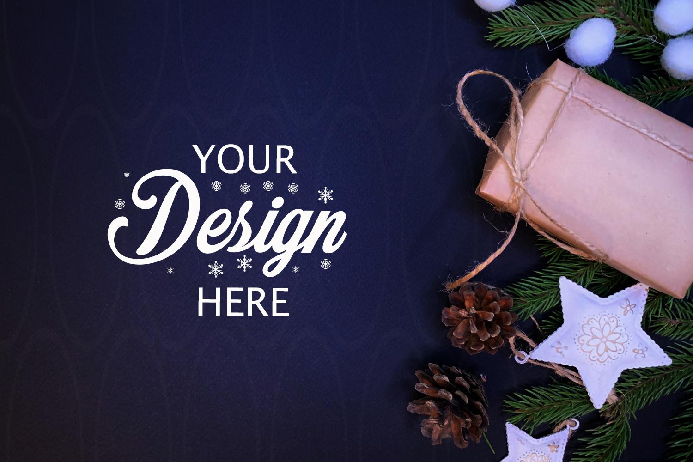 Gift Box Mockup Christmas mock up Personalized example image 1