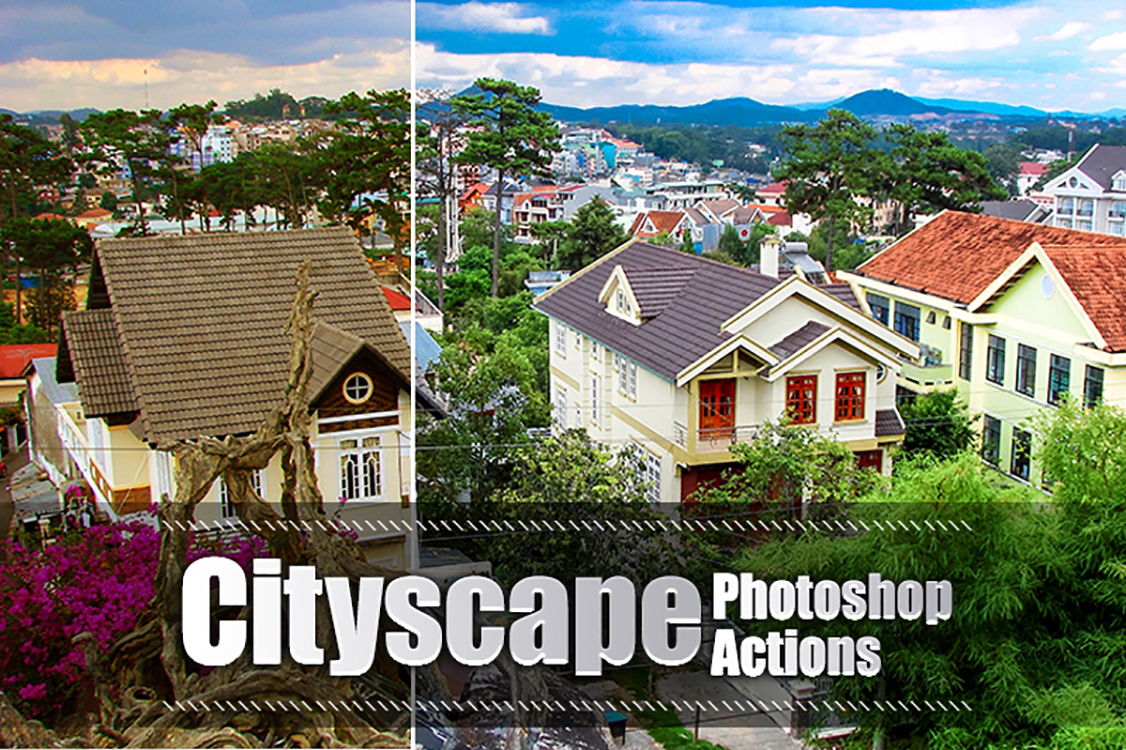 30 Cityscape Photoshop Actions example image 1