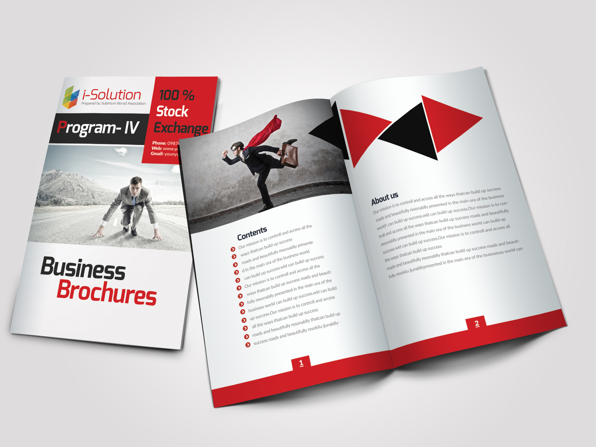 12 Pages Employment Business Bifold Brochure example image 1