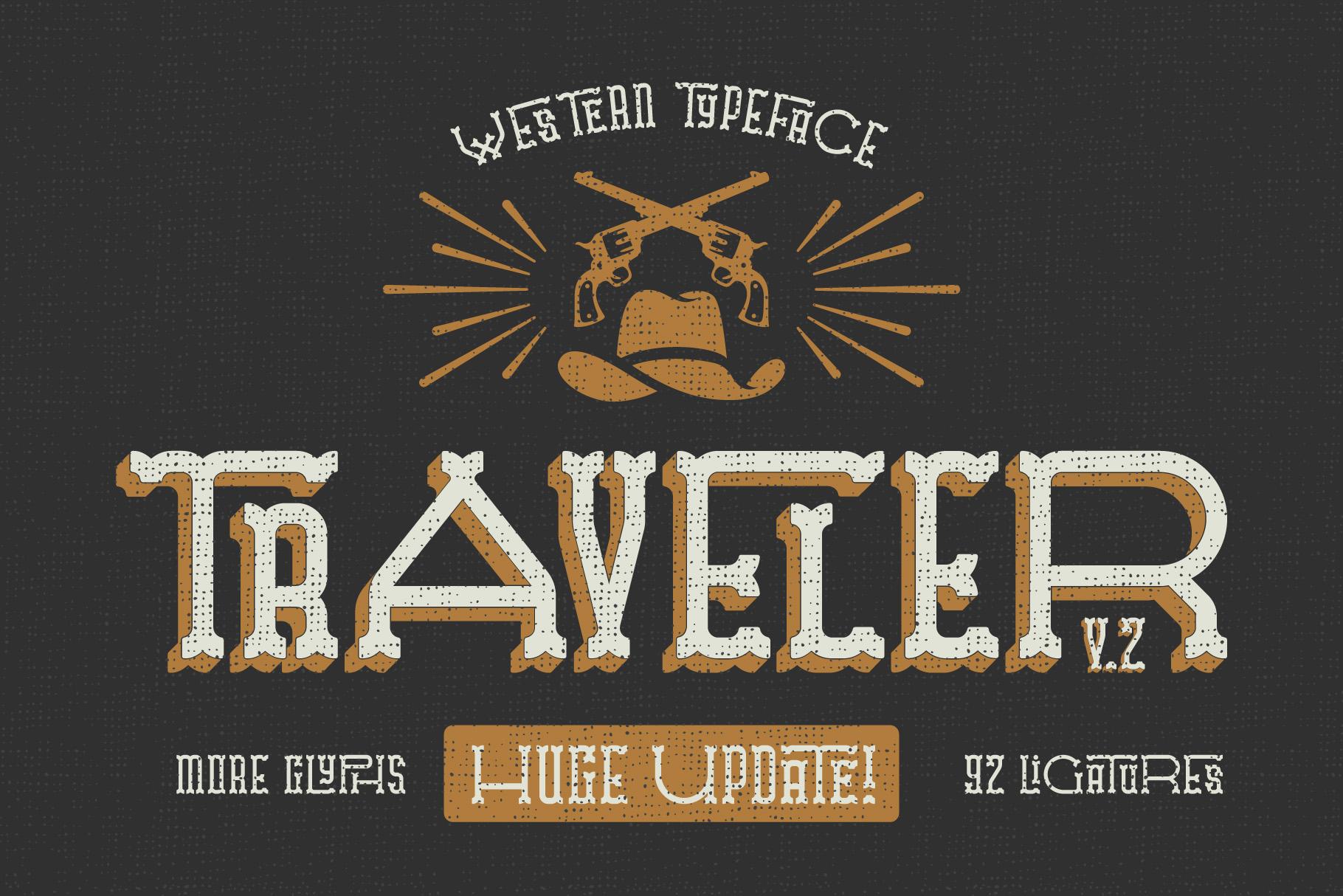 Traveler v.2 typeface example image 1