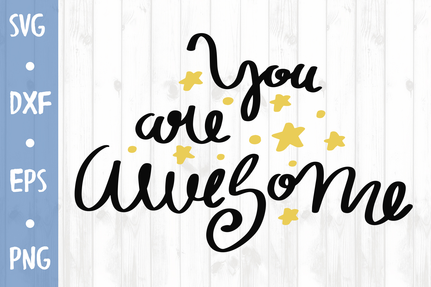 You are awesome SVG CUT FILE example image 1