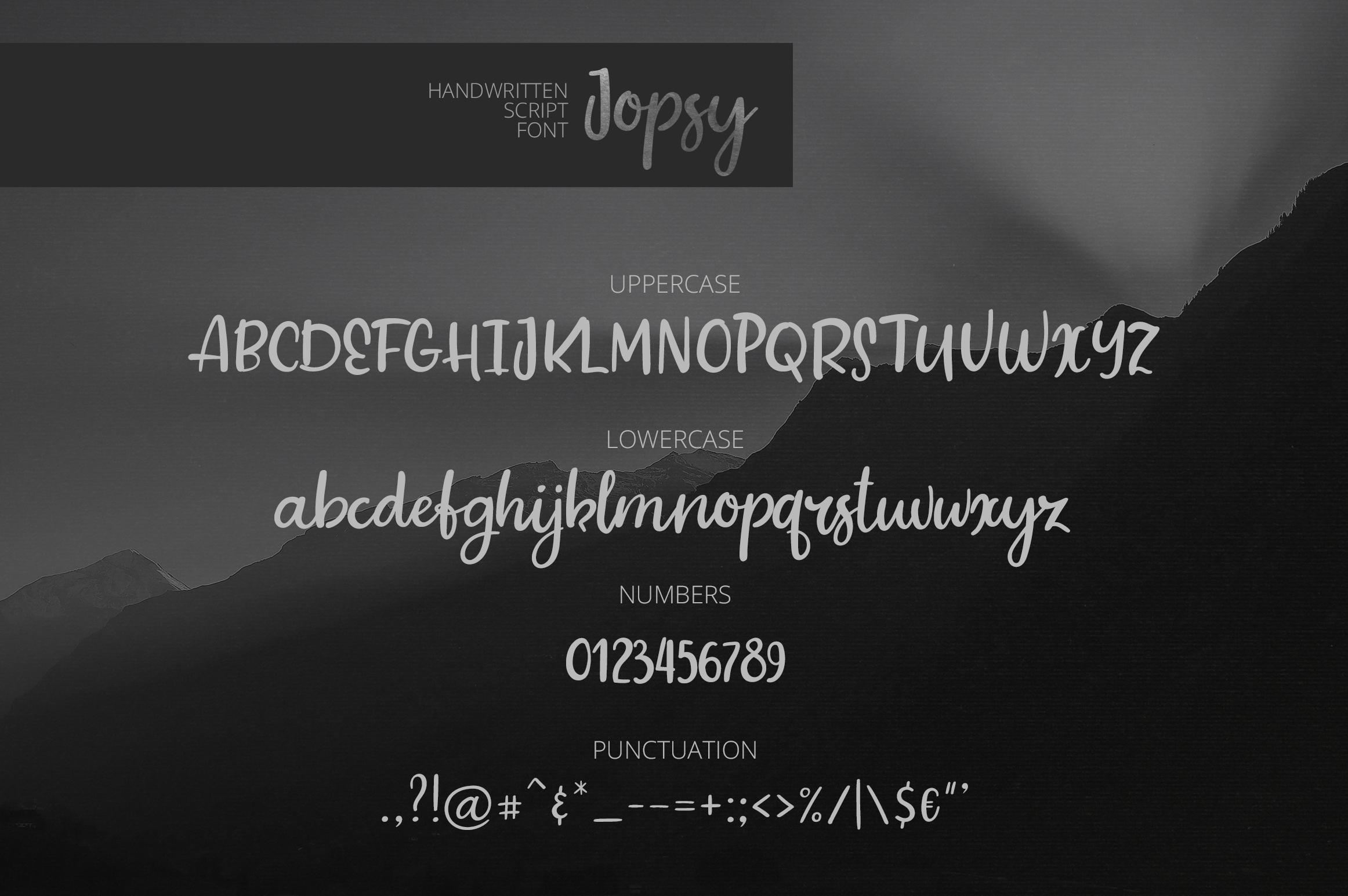 Jopsy. Handwritten Font example image 6