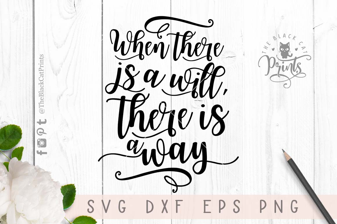 Inspirational quote SVG PNG EPS DXF example image 5
